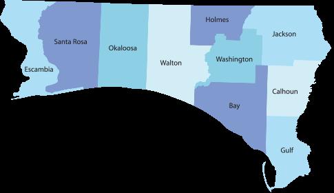 Florida Gulf Coast Map.Gulf Coast Wilbert Crestview Fl Burial Vault Services Provider
